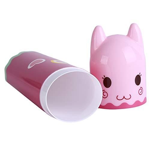unknow Meitanyuan Tragbarer Zahnbürstenhalter Travel Toothbrush Case Zahnbürstenbehälter Box,Rosa