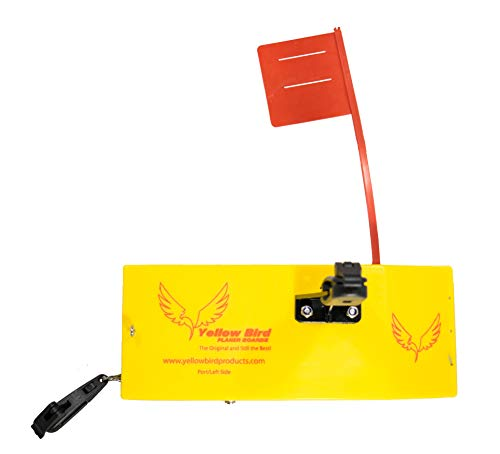 Yellow Bird Fishing Products Totally Redesigned New 8 Medium Planer Board (100P Port Side Planer Board with Working Tattle Flag, Enclosed Back, Adjustable Weight & (2) New Quick Grip Snap Releases)