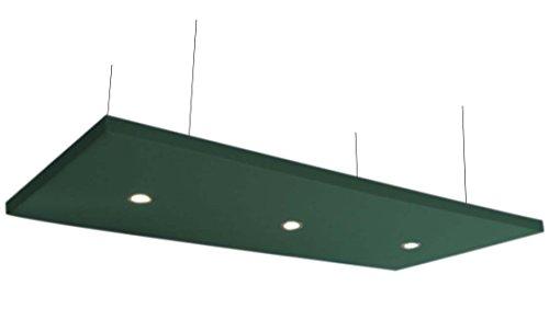 Horch - Toldo acústico con 3 luces LED, 240 cm x 120 cm x 8 cm, 4000 g/m2, color a elegir, vellón acústico alternativo a espuma, verde