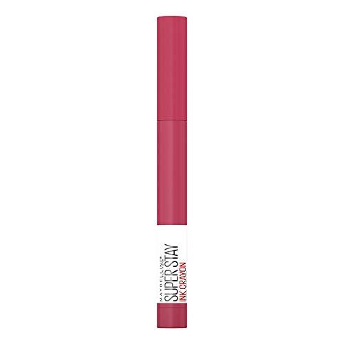 Maybelline New York Super Stay Ink Crayon Lippenstift, intensiv matte Farbe, 8 Stunden schwereloser Halt, mit Elastic Ink Techologie, 80 Run the World