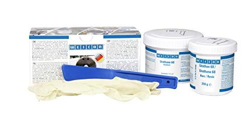 WEICON 10516005 Urethan 60, 2-Komponenten Polyurethan für unterschiedlichste Materialien, hell beige, 0,5 kg