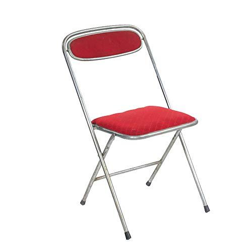 Folding chair Silla Plegable para el hogar Silla Plegable de Estilo Industrial Taburete de Bar Industrial Muebles Silla Plegable Muebles de Hierro Silla roja Almacenamiento Plegable