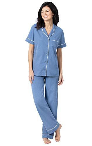 PajamaGram Pajama Set for Women - Pajamas for Women Cotton, Short Sleeve
