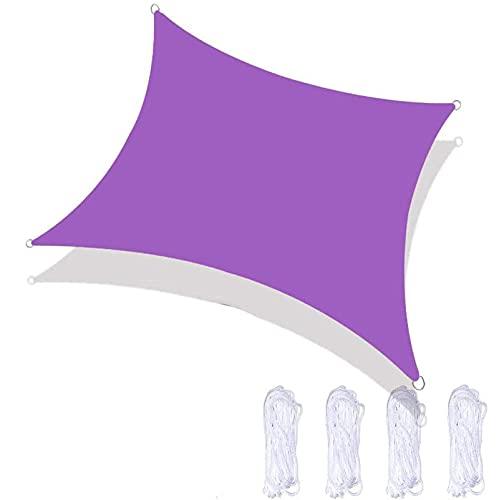 RURGLY Toldo rectangular de 7 pies x 6 pulgadas, parasol de jardín, resistente, toldo impermeable para exteriores, para patio, jardín, exterior, restaurante, patio trasero (gris)