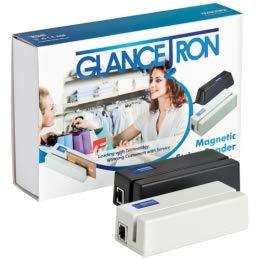 Glancetron 1290 Magnetkartenleser, schwarz inkl. USB-R