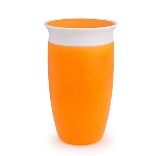 Munchkin Miracle 360° - Vaso de aprendizaje, 10oz / 296 ml, Naranja
