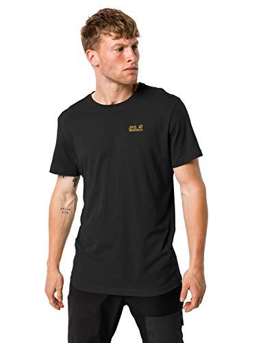 Jack Wolfskin Herren Essential T-Shirt, Black, S