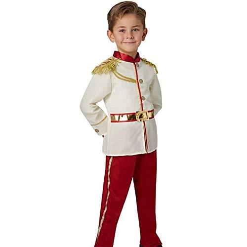GUAN Halloween-Kostüme Märchen für Kinder Schöne und charmante White Horse Prince Dress Up Boys Halloween-Kostüme