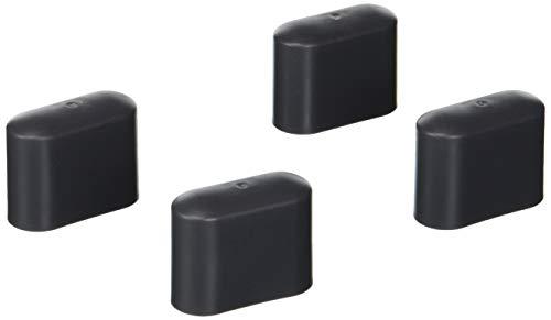 Greemotion Fußkappen set , Kunststoff 4-tlg, dunkelgrau, ca. 4,15 x 1,65 x 2,6 cm
