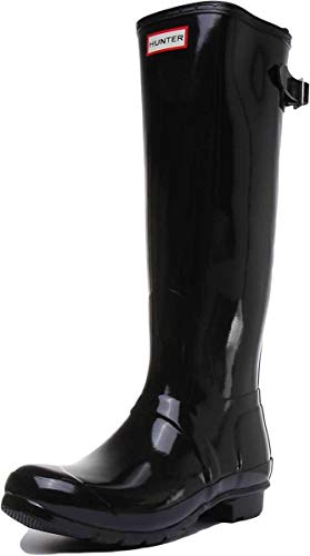 Hunter Original Back Adjustable Gloss - Botas para mujer, Negro (black), 36