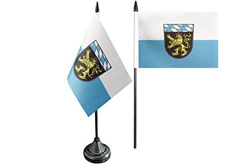 Flaggenfritze® Tischflagge Deutschland Oberbayern - 10 x 15 cm