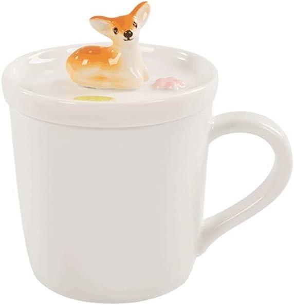 mugs Fawn Courier shipping free Shape Coffee Mug 200ML Cute Three-dimensional Ceramic In a popularity