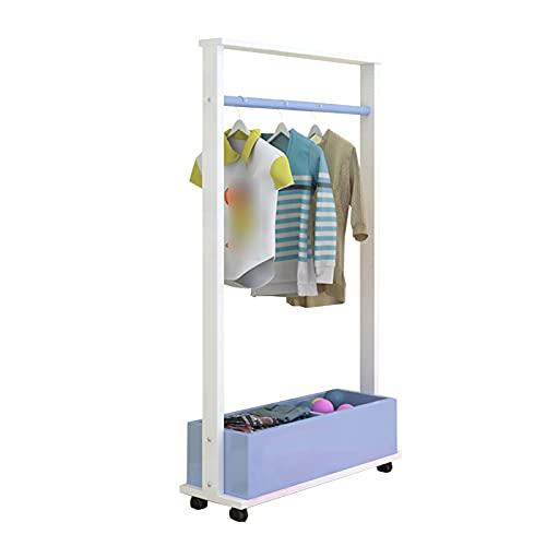 LM-Coat rack XINGLL Percheros Pie Perchero, Percha Independiente con Ruedas, Dormitorio para Niños Jardín Infantes Sombrero Zapato Juguete Vestido Estante Almacenamiento Extraíble