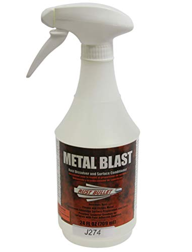 Rust Bullet Metal Blast 24oz Spray Bottle. Rust Dissolver, Rust Treatment, Metal Cleaner and Conditioner