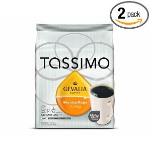 Gevalia Morning Roast Coffee, 14-Count T-Discs for Tassimo Coffeemakers (Pack of 2)