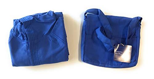 Bassetti Bademantel aus Mikrofaser mit Kapuze 6/8 Jahre Farbe Blau mit Bademantelhalter