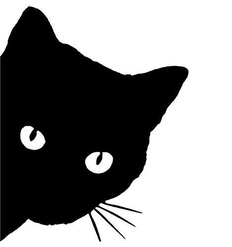 KUNFINE - Adhesivo/vinilo decorativo para coche con diseño de gato, pieza de tuneado