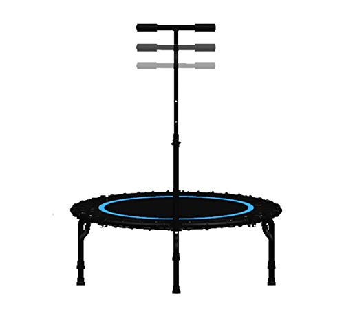 DSAEFG Mini trampolín, trampolín plegable de 40 pulgadas con mango ajustable de carga máxima 100 libras