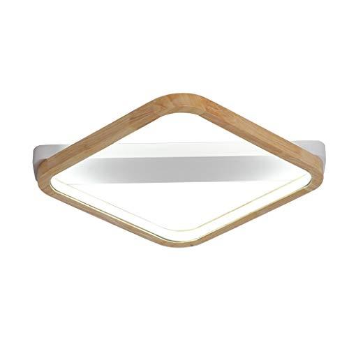 SLL- Slaapkamer verlichting LED 22W, 30W, 38W Plafond lichte woonkamer Lamp Study Lamp Planken Wit Licht, Drie-kleuren, Remote Simpel (Color : White light, Size : 53cm)