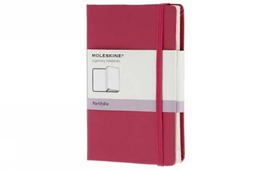 Moleskine Pocket - Portafolio de tapa dura, de tamaño bolsillo, color fucsia (Moleskine Classic)