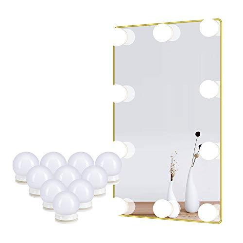 Spiegel Leuchten für Schmink Tisch Kosmetik Lampen für DIY Hollywood Make up Spiegel, LED Birnen mit Touch Sensor Dimmer und Netzteil, 10 Lampen, 4 Meter, Spiegel nicht im Lieferumfang enthalten