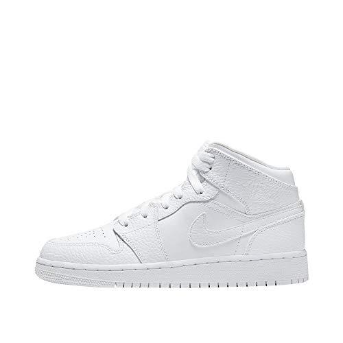 Nike AIR Jordan 1 MID (GS) Basketballschuh, White, 38 EU