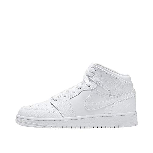 Nike AIR Jordan 1 MID (GS) Basketballschuh, White, 38 EU