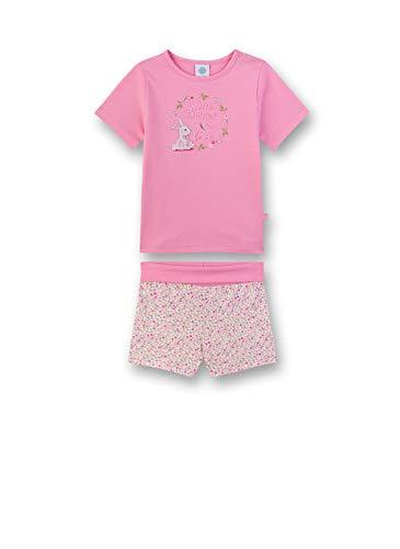 Sanetta Baby-Mädchen Pyjama kurz Zweiteiliger Schlafanzug, Rosa (rosa 3813), 74 (Herstellergröße:074)