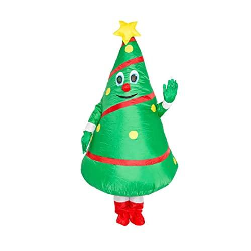 Traje de árbol de Navidad Disfraz Inflable árbol de Navidad Ropa Creativa explotador para Vacaciones Fiesta de Cosplay