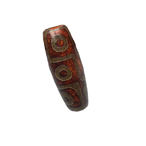 Tibet Old Mine Agate Nine Eyes Dzi Bead Jewelry Send Hang Rope