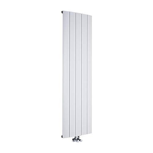 Hudson Reed - Design Heizkörper Vertikal Einlagig Mittelanschluss - Aluminium Weiß 1600mm x 470mm 1701W - Aurora