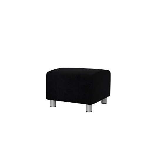 Soferia - Bezug fur IKEA KLIPPAN Hocker, Eco Leather Black