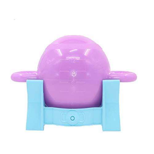 Fitness Trainingsmatte Yoga Fitness Hantel-Wasser-Einspritzung Kettle Bell-Doppel Ohr Griff Kettle Bell Sports Equipment (Lila + Base) (Color : Rose Red+Base)