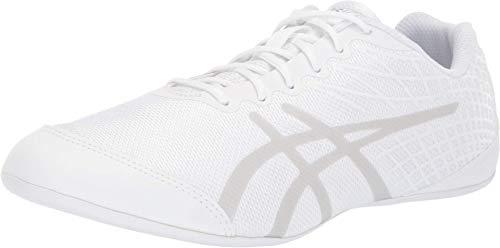 ASICS Women's ULTRALYTE Cheer 2 Cheerleading Shoes, 8, White/Silver