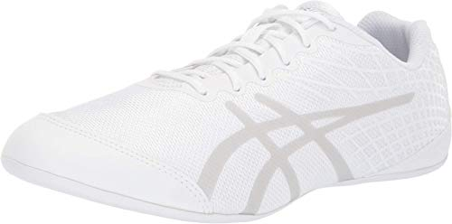 ASICS Ultralyte Cheer 2 Cheerleading Shoes, White/Silver, 7.5 M US