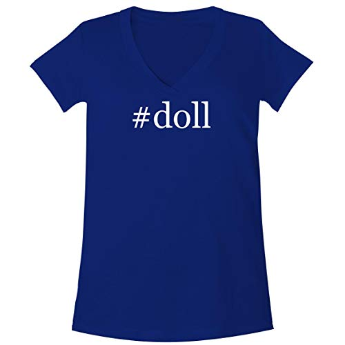 The Town Butler #Doll - A Soft & Comfortable Women's V-Neck T-Shirt, Blue, XX-Large