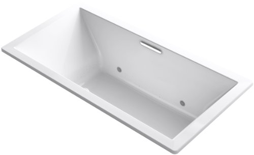 Find Discount KOHLER 1835-GVBCW-0 Underscore 72-Inch x 36-Inch Drop-In VibrAcoustic + BubbleMassage Air Bath with Bask Heated Surface and Chromatherapy, White
