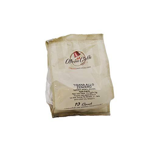 ODC MADE IN ITALY Kit compuesto de 100 cápsulas de TÉ DE JENGIBRE Y LA HIERBA DE LIMÓN sin azúcar adicional compatible con las máquinas de café de la marca Nespresso.