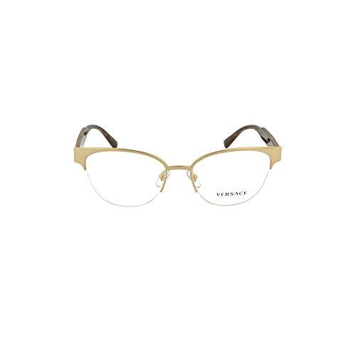Versace VE1265 VE/1265 1460 - Gafas de sol para mujer (montura óptica dorada/Habana, 53 mm), color dorado
