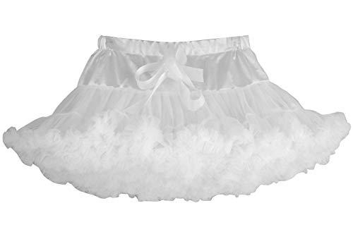 Happy Cherry - Falda de Princesa de Tutú para Bebé Nina Vestido Corto de Tul para Danza Fiestas de Cosplay Boda Ropa de Volantes para Disfraz Boda para Niñas de 5-7 Años - Blanco