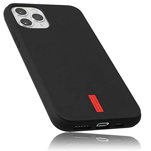 mumbi Hülle kompatibel mit iPhone 11 Pro Handy Hülle Handyhülle, schwarz mit rotem Streifen - 5.8 Zoll