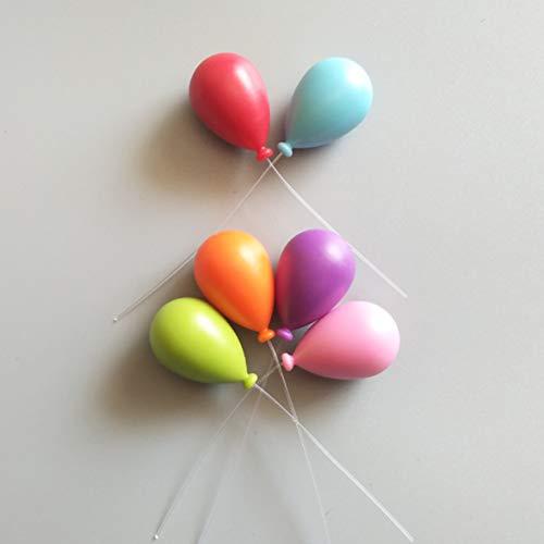 Koelkastmagneet 6 stuks draagbare decoratieve berichthouder home whiteboard abs handwerk ballon vorm instructies accessoires leuke mini