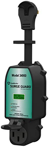Southwire 34950 Surge Guard - Full Protection Portable with LCD Display, 50A, Black