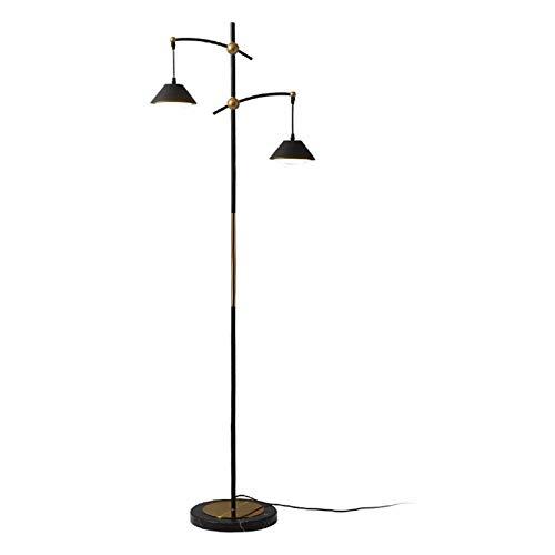 Lámpara de Pie Multi Industrial Lámpara LED Cabeza Permanente dormitorio de la lámpara ligera del arte del hierro de la vendimia de luz ambiental de la sala de estar, oficina, dormitorio Lámpara de Pi