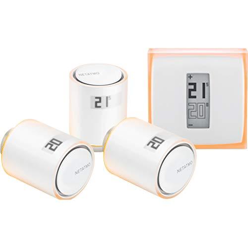 Netatmo Intelligentes Thermostat + 3 Ventile Kit