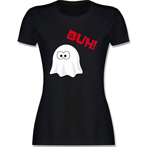 Halloween - Kleiner Geist Buh süß - M - Schwarz - Verkleidung Kostüm - L191 - Tailliertes Tshirt für Damen und Frauen T-Shirt