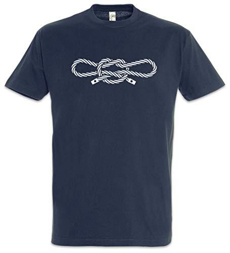 Urban Backwoods Narcos Handcuff Knot Herren T-Shirt Blau Größe 5XL