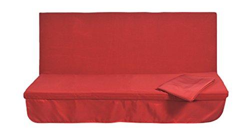 Stiliac 9411T308 Set Cuscini e Tettuccio di ricambioRicambio per Dondolo 3 Posti, Rosso, 150x55x6 cm