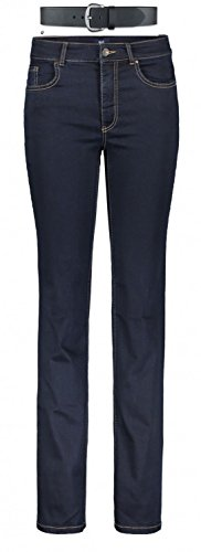 Preisvergleich Produktbild MAC Melanie Damen Jeans Hose 0380l504087 & draussen-aktiv.com Ledergürtel .,  Farbe:D801;Größe:W44 / L32