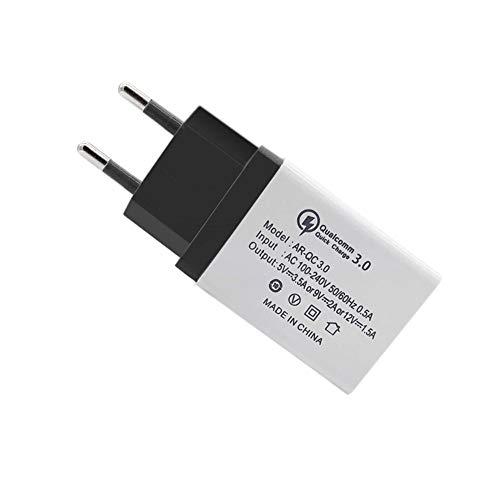 FANMURAN Quick Charge 3.0 Caricabatteria USB Caricatore da Muro per Cellulari Android Nero